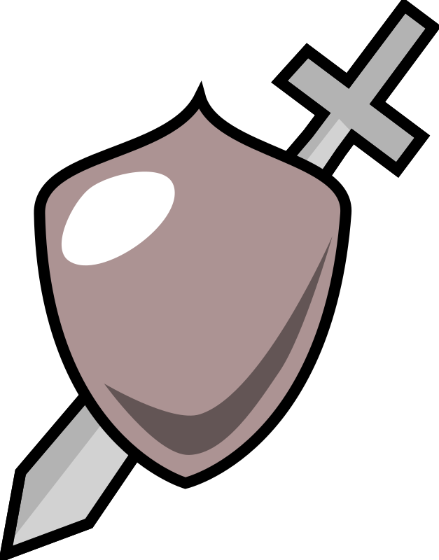 Sword and shield icon by purzen - Simplistic sword and shield set.