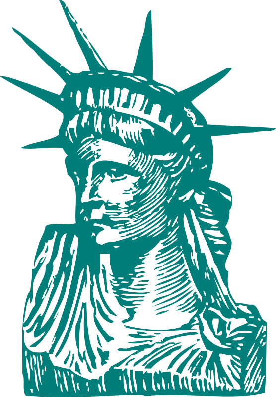 Statue of Liberty detail by johnny_automatic - a section of the Statue of Liberty from a U.S. patent drawing