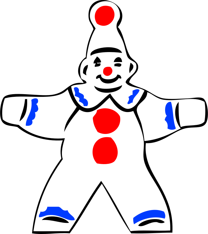 simple clown figure by johnny_automatic - a simple drawing of a clown figure from a U.S. patent drawing