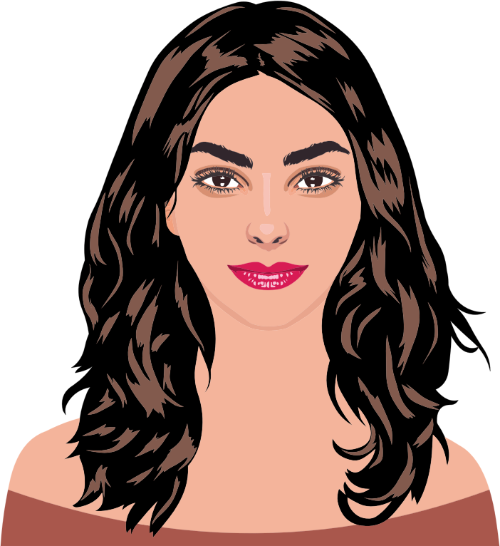 Clipart Brown Haired Woman By Heblo