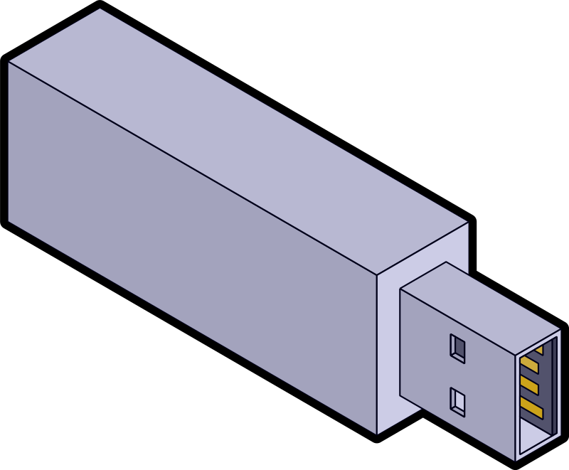 Isometric USB stick by coredump - A quick and dirty isometric USB stick. I eyeballed this, so please don't expect perfect precision.