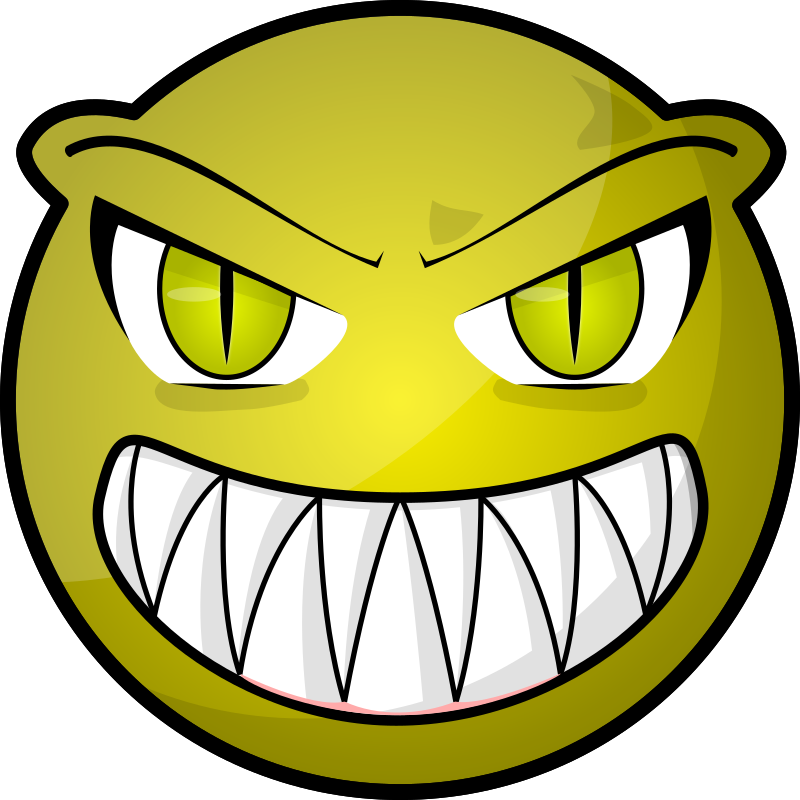 Scary face by purzen - A scary face for an icon or something.