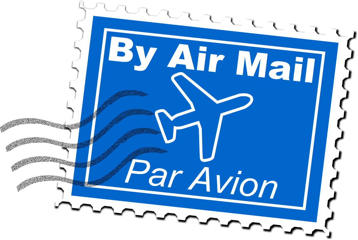 Air Mail Postage Stamp by uroesch - Fictional air mail postage stamp