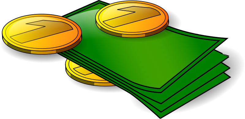 Money - banknotes and coin by n_kamil - My first vector graphics.