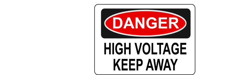 Danger - High Voltage Keep Away by Rfc1394 - High voltage danger sign - Keep Away