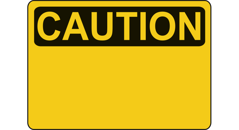Caution - Blank by Rfc1394 - A yellow caution sign where a new sign is to be created or an unknown caution is to be written in