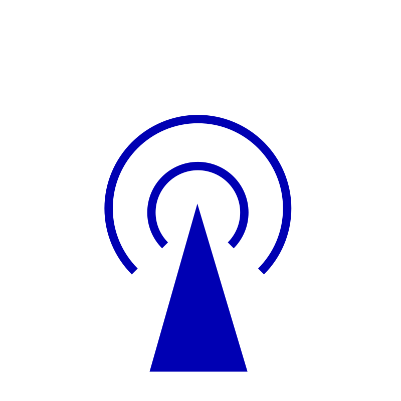Wireless Logo by graingert - A wireless aerial indicator icon