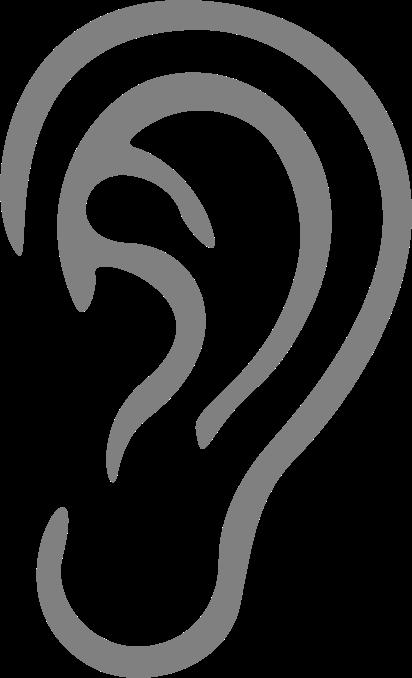 clipart simple ear line clipart black line clip art borders