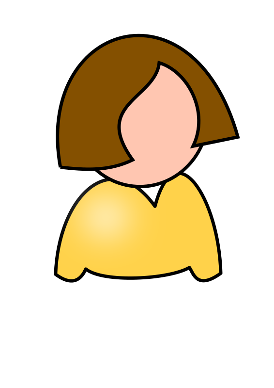 woman by milovanderlinden - Simple icon of a woman from waist up.