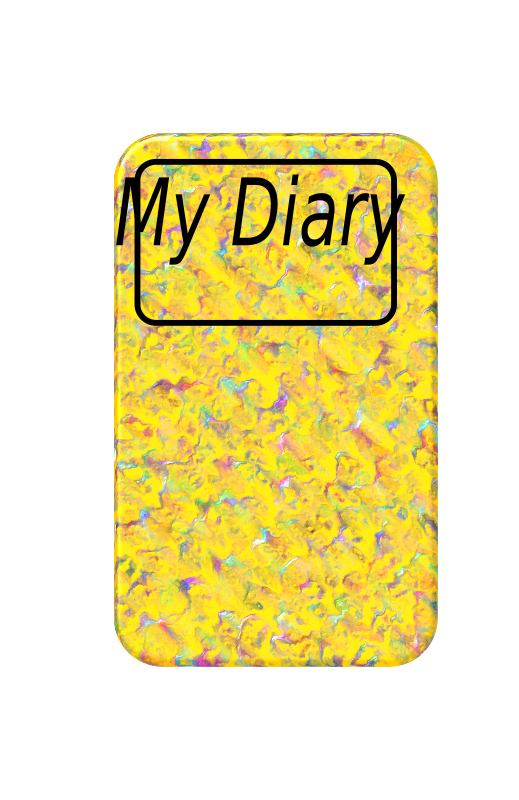 Diary 2 by lesnivila - It is a yellow diary with a nice cover. There is written My Diary on the front.
