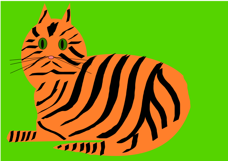 Tiger Cat by lesnivila - The orange tiger cat with black stripes and green eyes. :-) I love them.