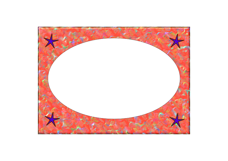 Border with four Stars by lesnivila - Red border with four dark stars. In the center a message board.