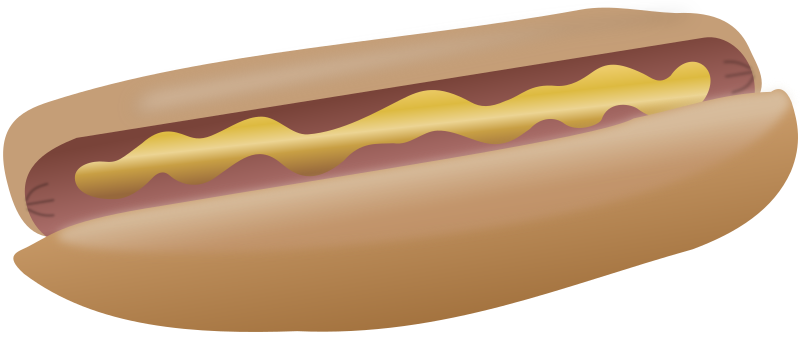 Hot dog with mustard by cwt - Hot dog with mustard