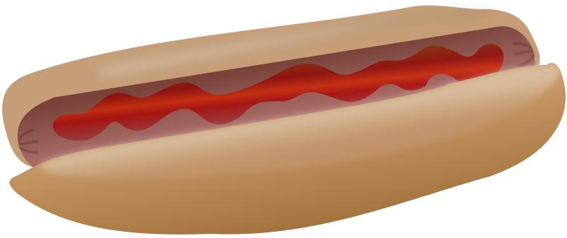 Hot dog with ketchup by cwt - Hot dog with ketchup