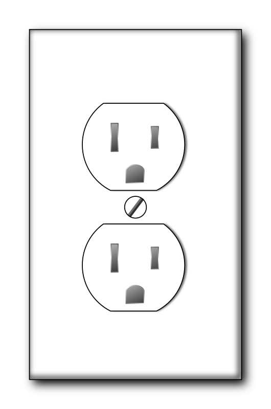 Recepticle by MajinCline - A white wall-outlet.