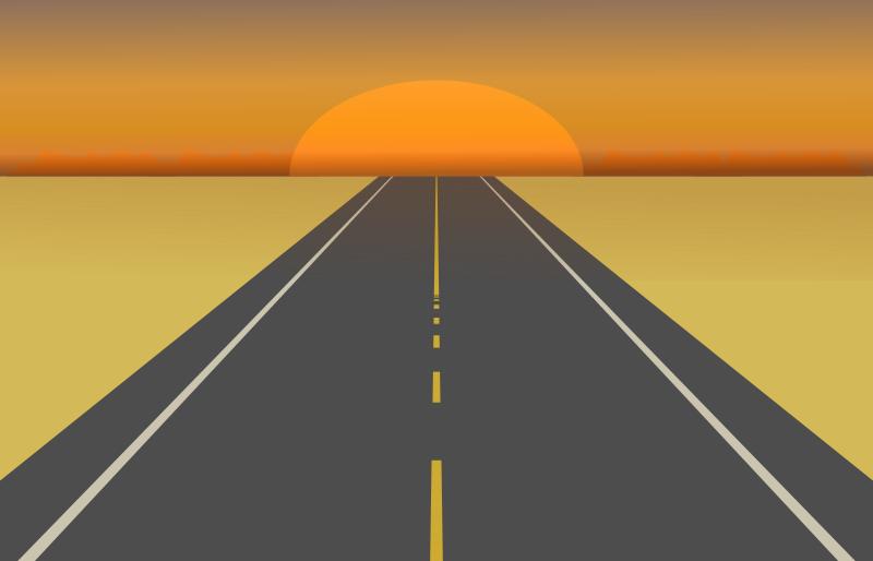 clipart desert road sunset road sign clip art png road sign cllip art
