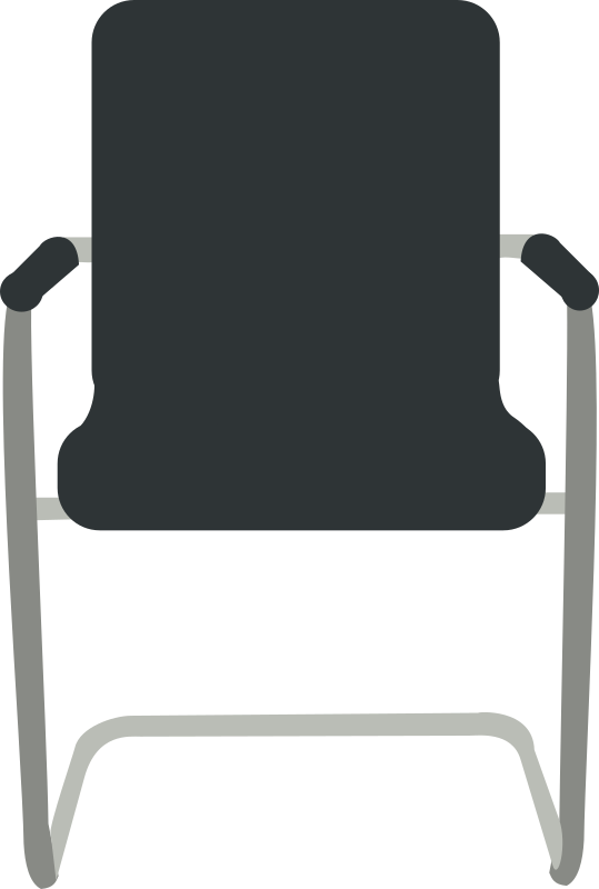Desk Chair Black By Rfc1394 Front View Of Black Desk Chair