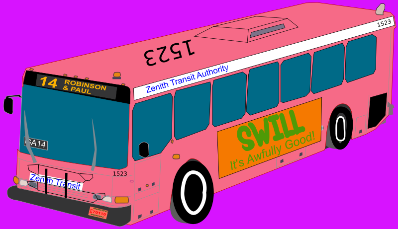 Pink City Bus by Rfc1394