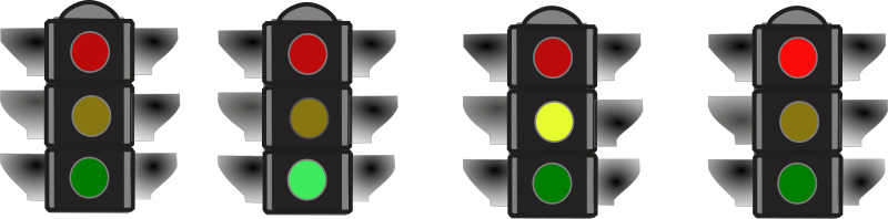Traffic Signal by Rfc1394 - A traffic signal.  Shows both all dark and each color.