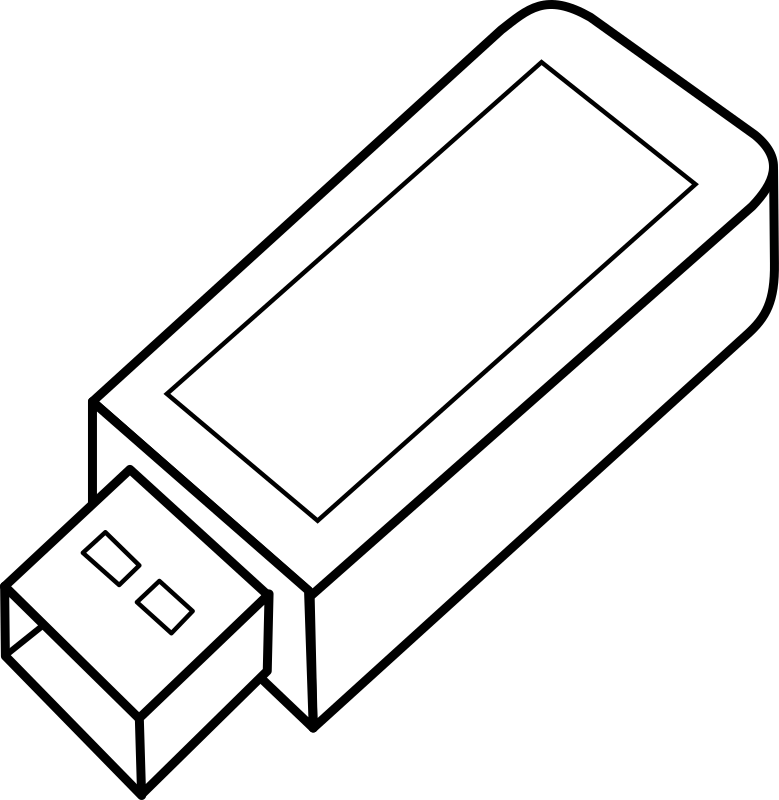 USB Key by lmproulx - An outline of a usb key