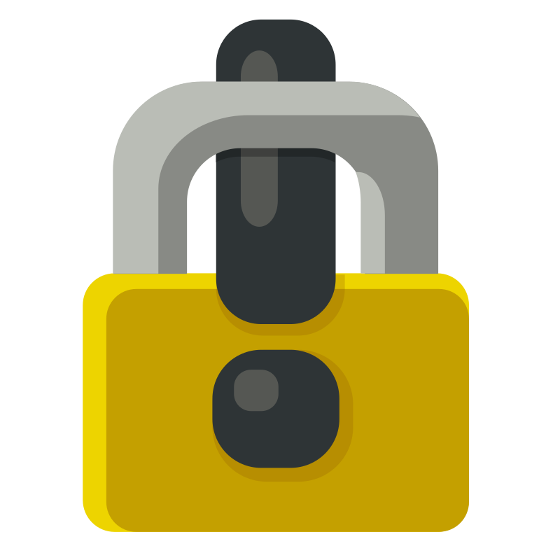 Locked Exclamation Mark - Padlock by Tranberry