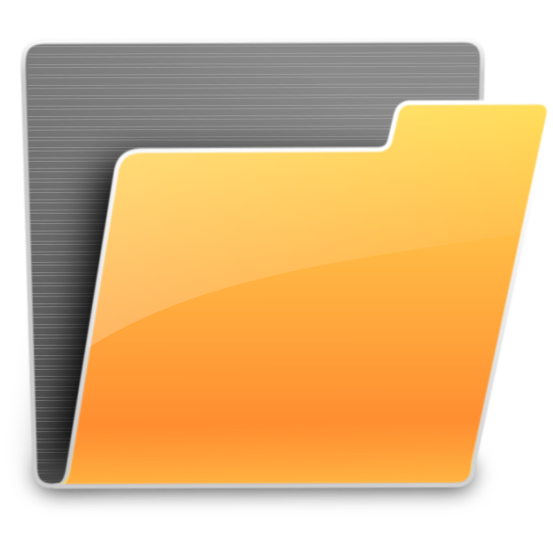 Folder Icon by usiiik - Orange and Gray Folder Icon (48x48)