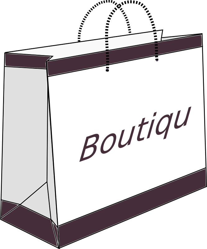 Boutique Shopping Bag by zizee - An outline of a fashion boutique bag.