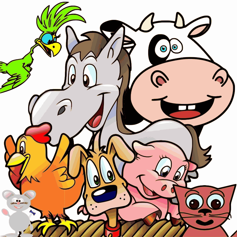clipart group of happy animals house clip art free images house clip art free images