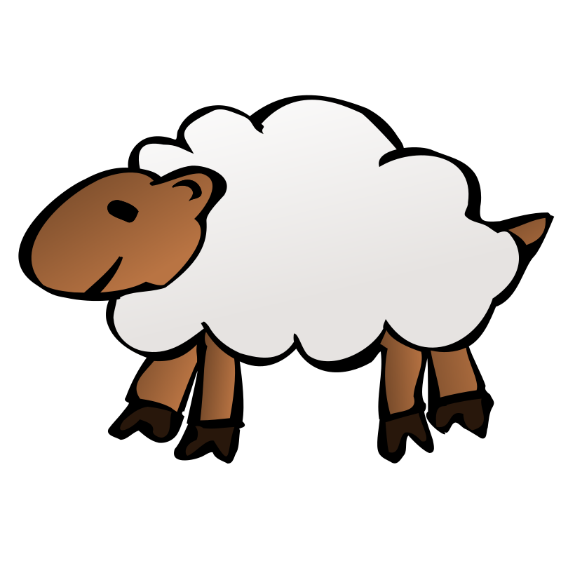 Sheep by nicubunu - A cartoon sheep