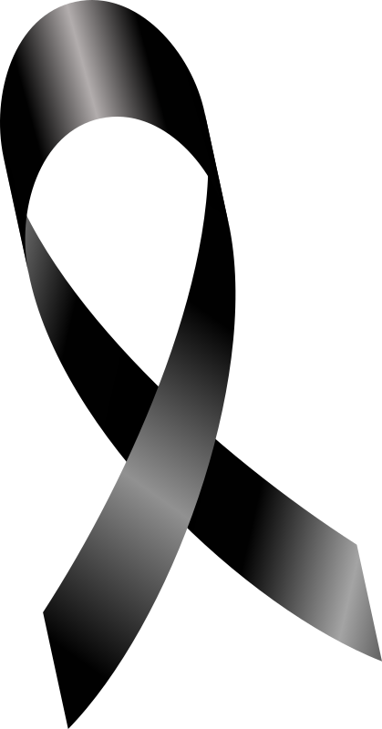 Clipart Melanoma Cancer Ribbon Mourning Ribbon Luto