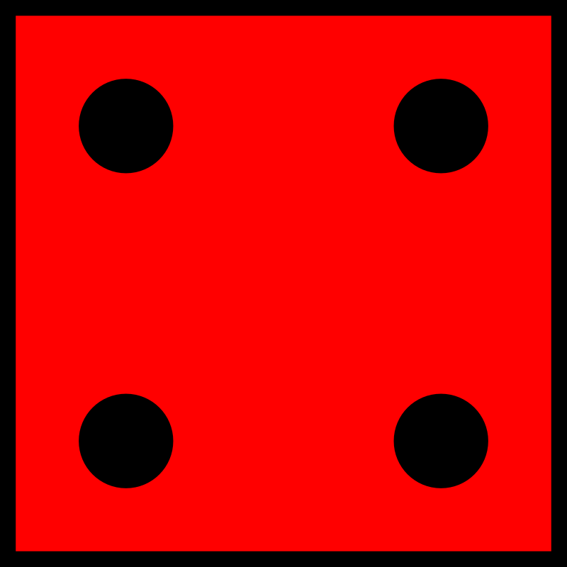 Red Die 4 by orsonj - A die I made for a game.