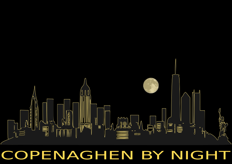 clipart copenaghen by night