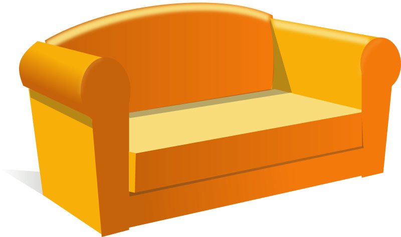 sofa by rg1024 - A yellow sofa or couch.