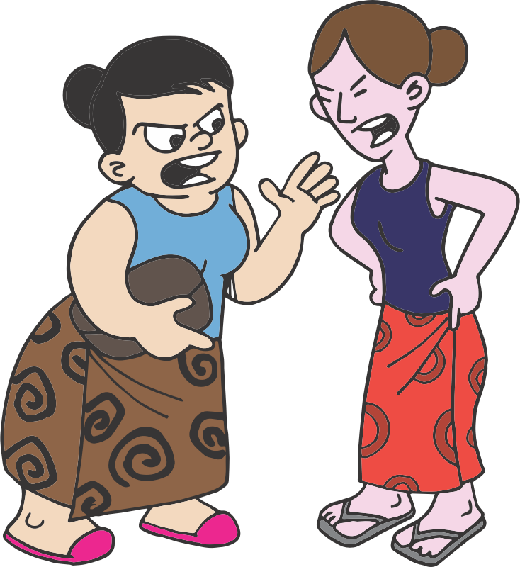 Clipart - Quarrel