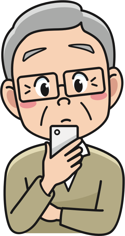 Clipart Senior With Smartphone