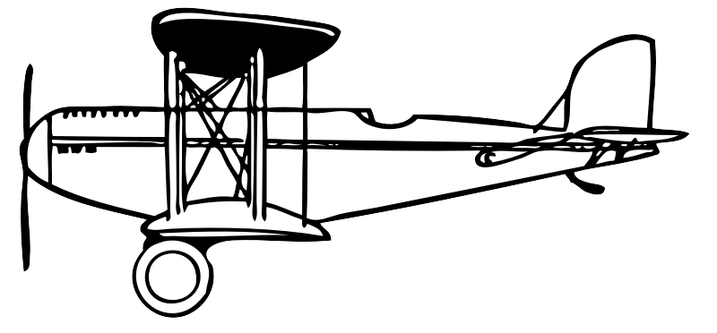 biplane by johnny_automatic - a side view of a biplane