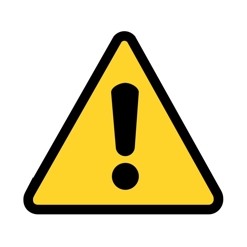 warning icon by matthewgarysmith - A very simple warning icon that can be scaled down fairly small and still be recognizable.