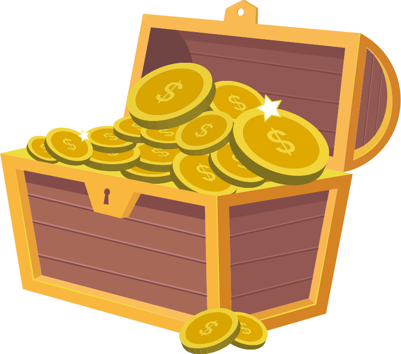 Clipart - Treasure Chest Treasurer Clip Art