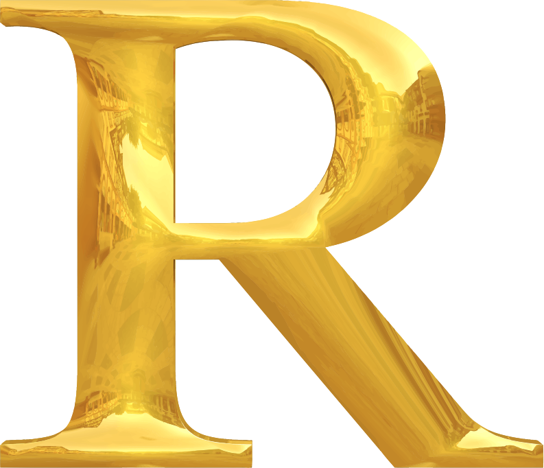 Clipart Gold Typography R