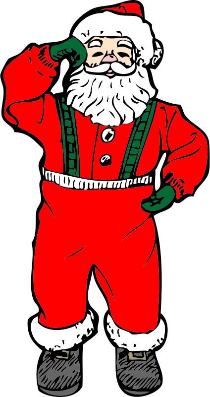 dancing santa by johnny_automatic - a dancing santa from a U.S. patent drawing