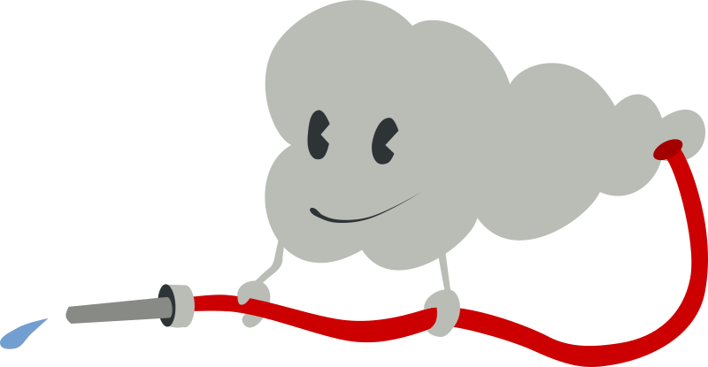 cute cloud by nefigcas - A cute cloud with integrated hose