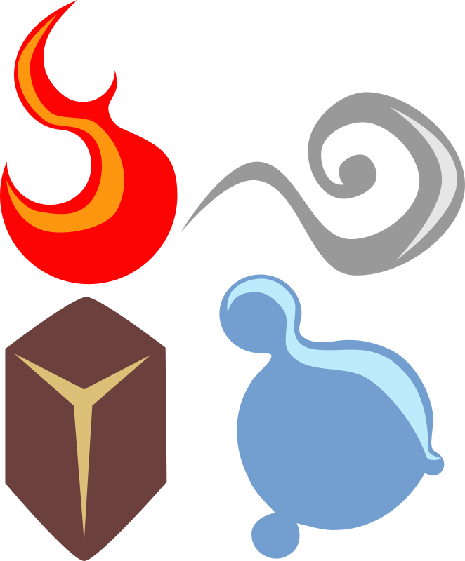 symbolic four elements by nefigcas - From a request... here there are: symbolic four elements... i was thinking about including ether... but it doesn't have spark ;):D