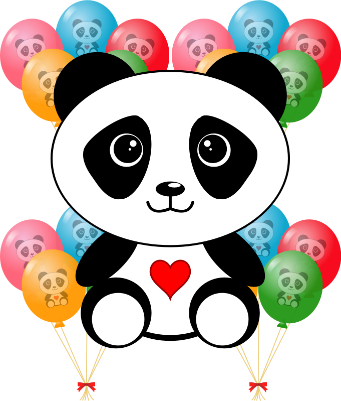 clipart panda party clipart of balloons and cake clip art of balloons a cakes