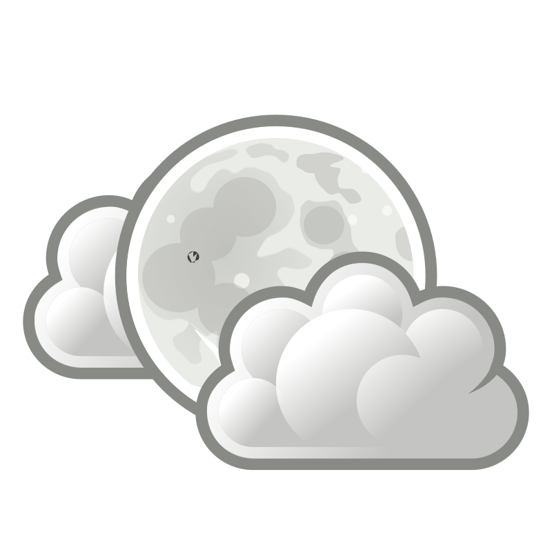 tango weather few clouds night by warszawianka - Weather icon from Tango Project: http://tango.freedesktop.org/Tango_Desktop_Project