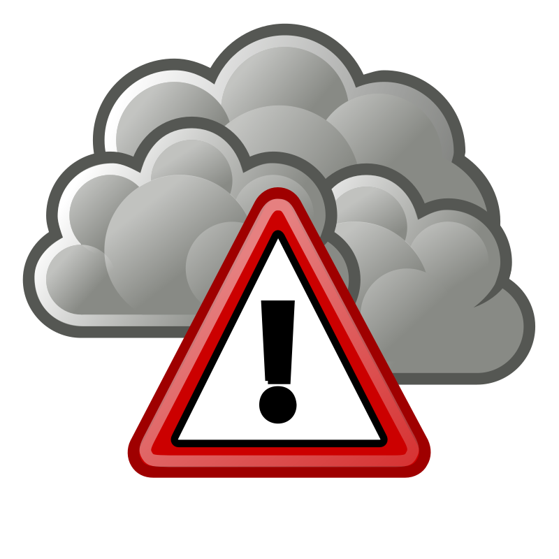 tango waether severe alert by warszawianka - Weather icon from Tango Project: http://tango.freedesktop.org/Tango_Desktop_Project