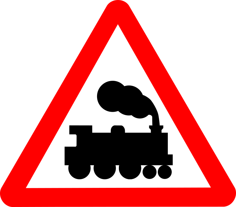 Roadsign train by Simarilius