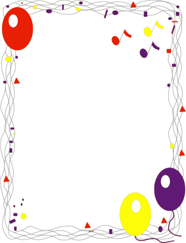 Balloon Border by revans2