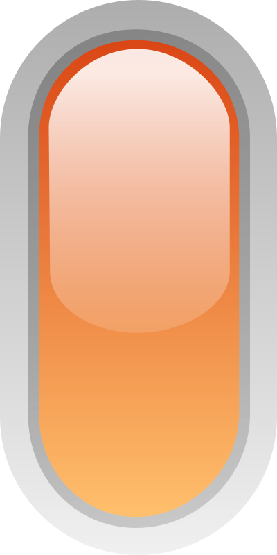led rounded v orange by jean_victor_balin - Glossy button with rounded corners by Jean-Victor Balin. From OCAL 0.18 release.