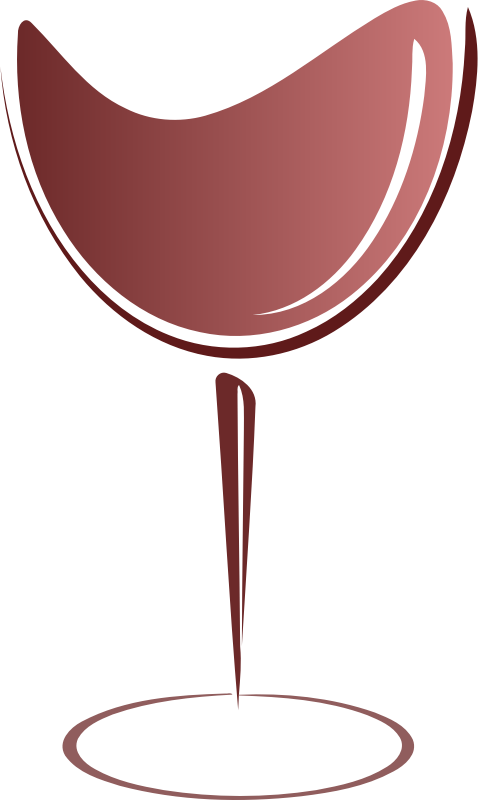 Clipart Abstract Wine Glass