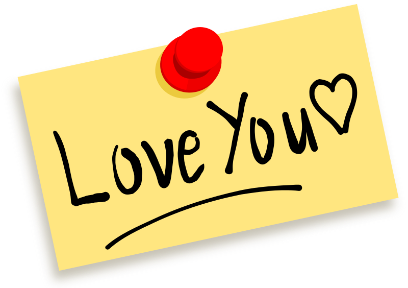 "Thumbtack note Love you by zeimusu - Thumbtack note with message ""Love you?"""